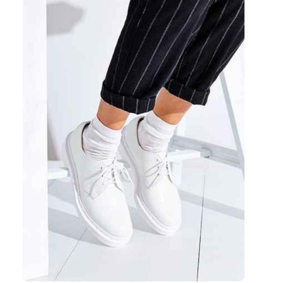 8f9401b3ad54 Dr. Martens Shoes - DR MARTENS 1461 Mono White Fur Lined